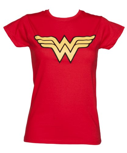 Ladies Red Wonder Woman Logo T Shirt