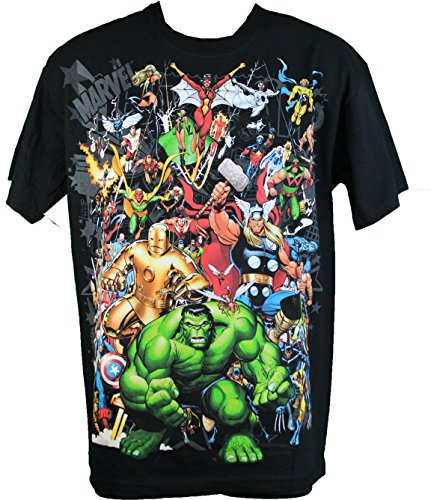 Marvel Superheroes Group Men's T-Shirt Incredible Hulk