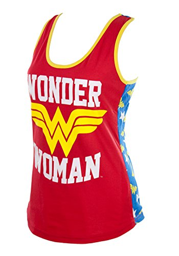 Bioworld Wonder Woman Back Logo Racerback Tank