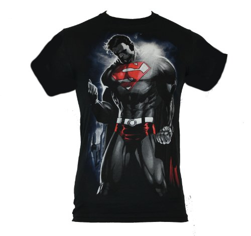 Superman Mens T-Shirt - The Solem Power of the Caped One Image