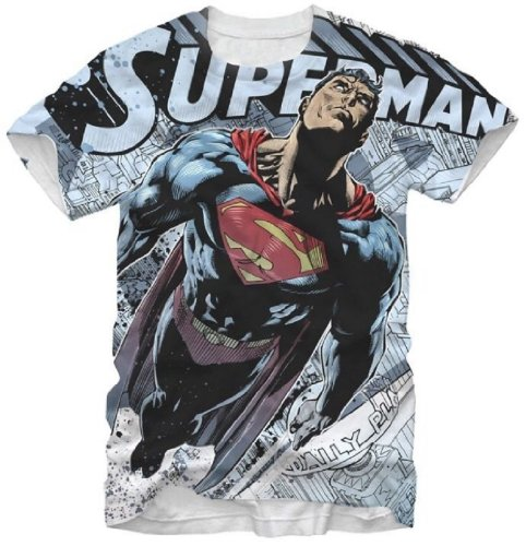 Small Flight Superman Man of Steel Sublimation Mens T-shirt
