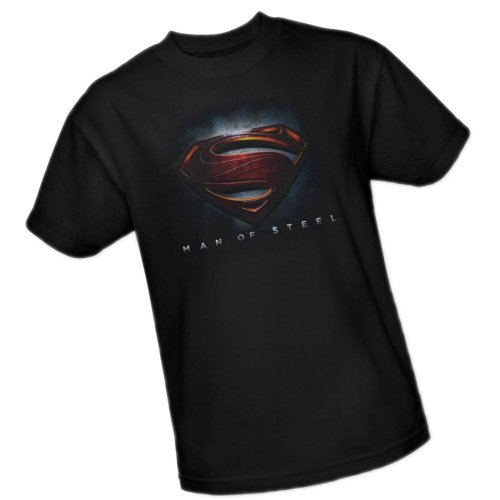 DC Comics Superman Man of Steel Logo Men's Black T-Shirt