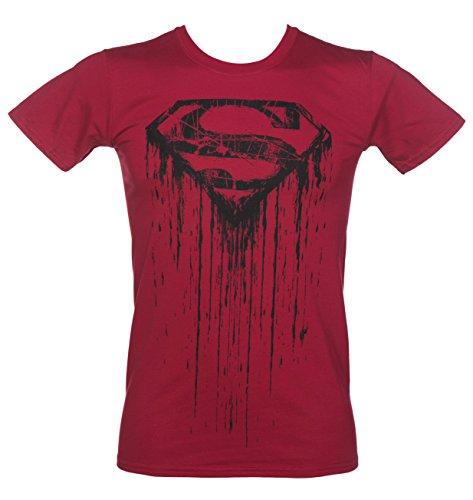 Mens Red DC Comics Superman Graffiti T Shirt