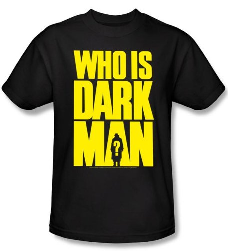 Darkman T-shirt Movie Who Is Darkman Adult Black Tee Shirt