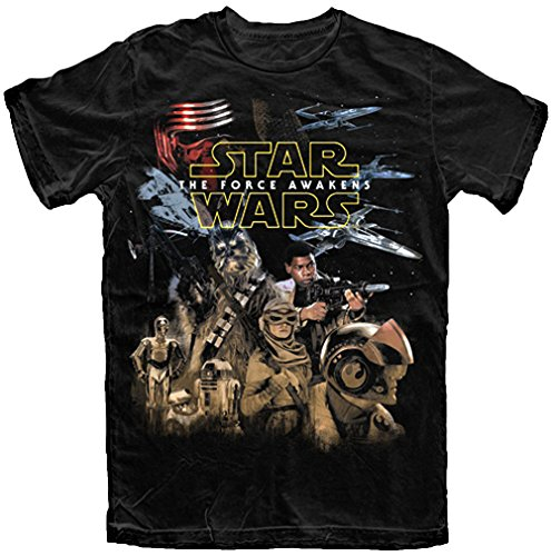 Star Wars Mens' The Force Awakens Resistance T Shirt
