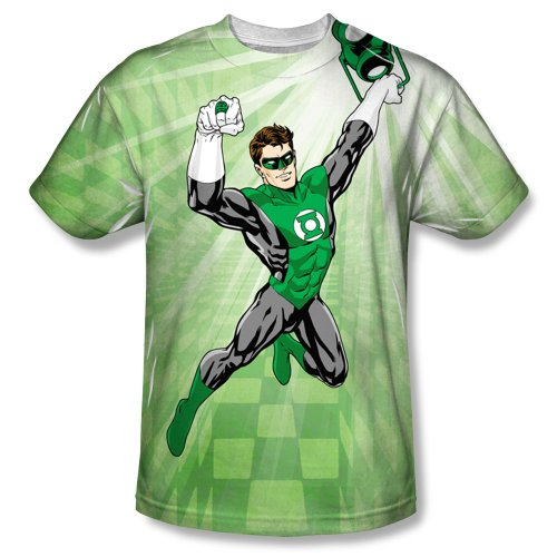 Green Lantern All-Over Front Print Sports Fabric T-Shirt