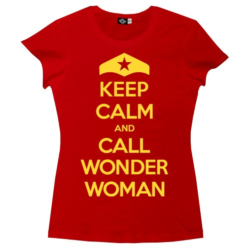 Hank Player 'Keep Calm & Call Wonder Woman' Women's T-Shirt