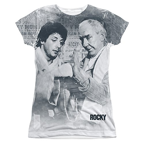 Rocky 1970's Sports Boxing Action Movie Rocky & Mickey Junior Front Print Tee