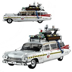 Ghostbusters 2 Ecto-1A Hot Wheels Elite 1/18 Scale Vehicle
