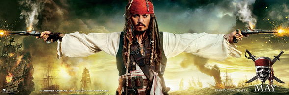 Johnny Depp as Captain Jack Sparrow: Pirates of the Caribbean
