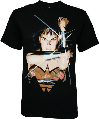 DC Comics Wonder Woman Mens Black Tee