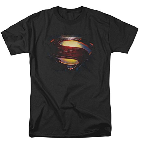 Superman Man of Steel Grungy S Shield T-Shirt 2013 Movie T-Shirt