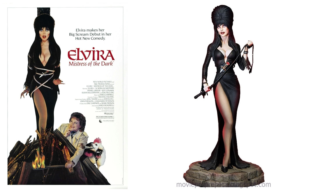 Cassandra Peterson as Elvira: Elvira, the Mistress of the Dark Collectible Figure