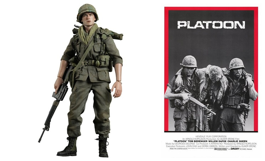 Charlie Sheen as Private Chris Taylor: Platoon Movie Collectible Figure