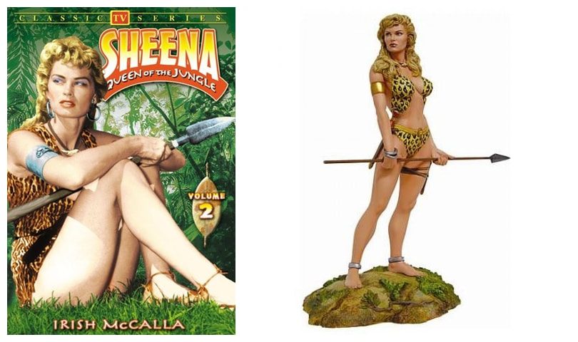 Irish McCalla as Sheena: Queen of The Jungle TV series Collectible Figure Statue