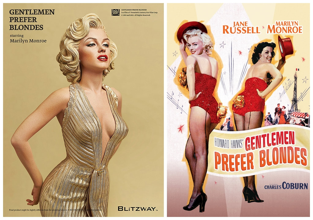 Marilyn Monroe as Lorelei Lee: Gentlemen Prefer Blondes Movie Collectible Figure Statue