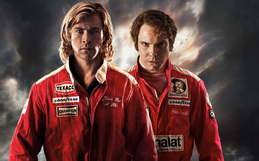 Chris Hemsworth as James Hunt and Daniel Brühl as Niki Lauda