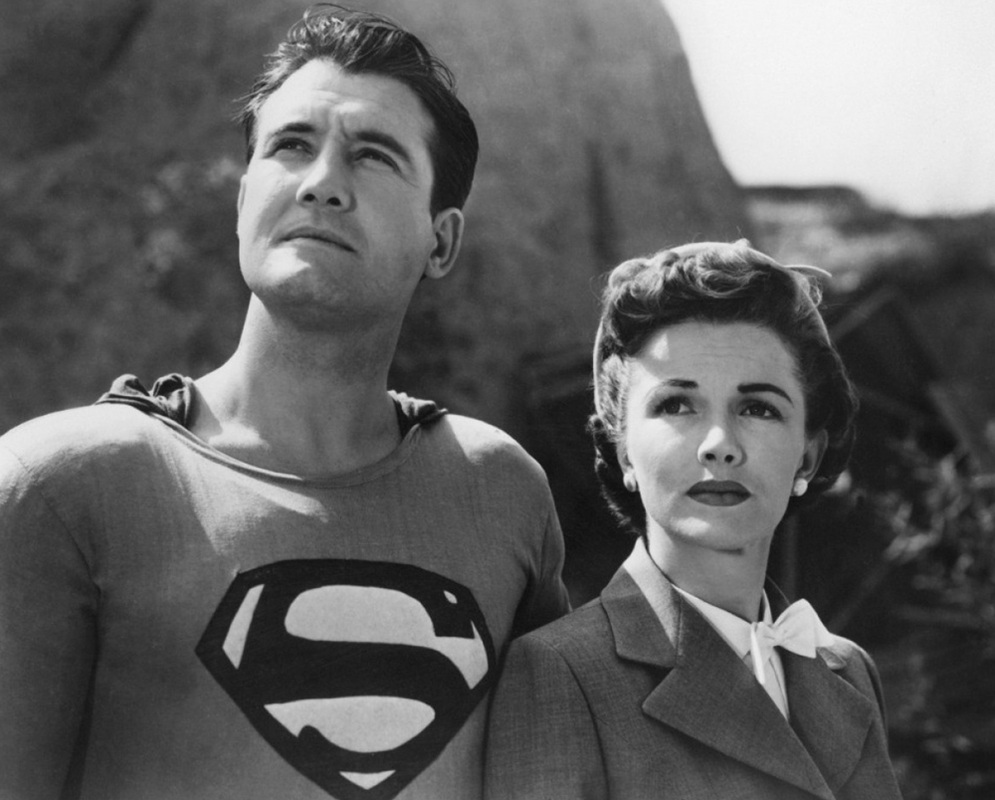 George Reeves as Superman and Phyllis Coates as Lois Lane