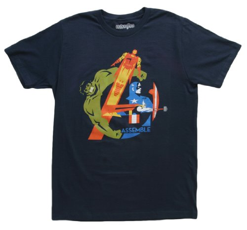 The Avengers Assemble Navy Mens T-Shirt