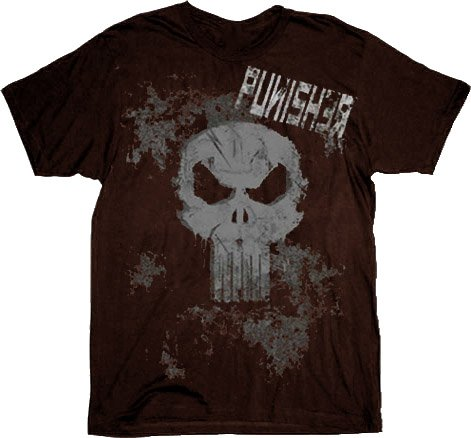 The Punisher Skull Ready For This Black Acid Wash Adult T-Shirt