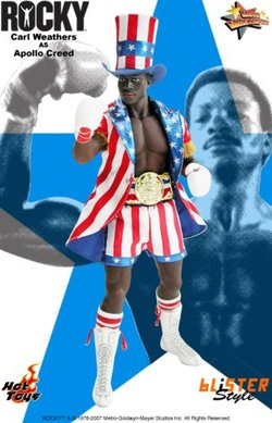 Rocky Hot Toys Sideshow Collectibles Deluxe 12 Inch Action Figure Carl Weathers as Apollo Creed