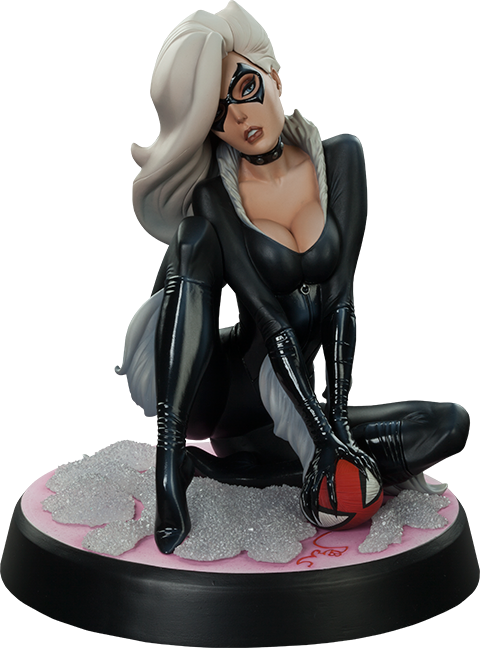 Black Cat Polystone Statue