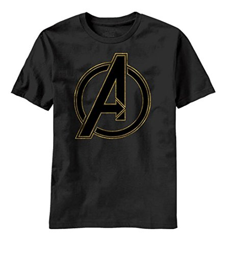 Marvel Avengers Out Logo Mens Black T-Shirt