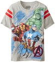 Marvel Big Boys' Avengers T-Shirt with Jersey Applique
