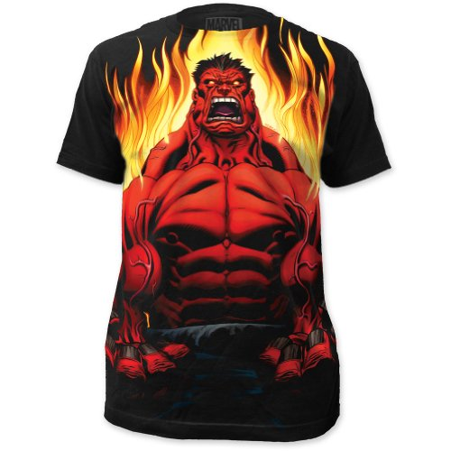 Marvel Men's Incredible Hulk Red Hulk Fitted Cotton T Shirt