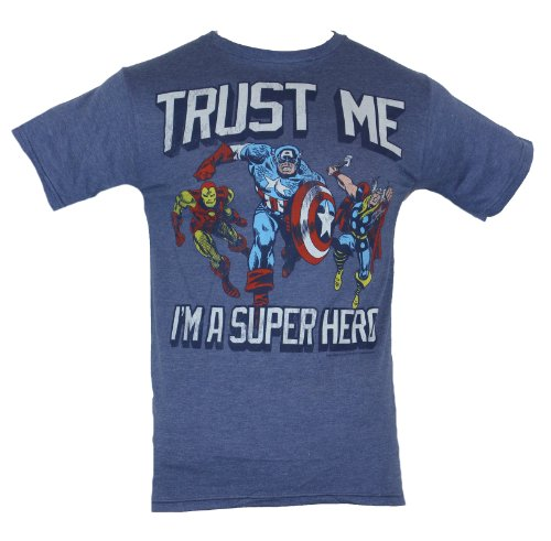 The Avengers (Marvel Comics) Mens T-Shirt - Trust Me I'm A Superhero Image