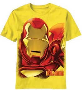 Marvel Comics The Invincible Iron Man Men's Yellow T-shirt
