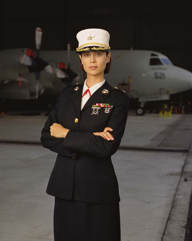 Catherine Bell as Sarah Mackenzie in the series JAG