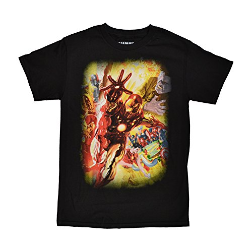 Marvel Iron Man Suits of Stark Black T-Shirt