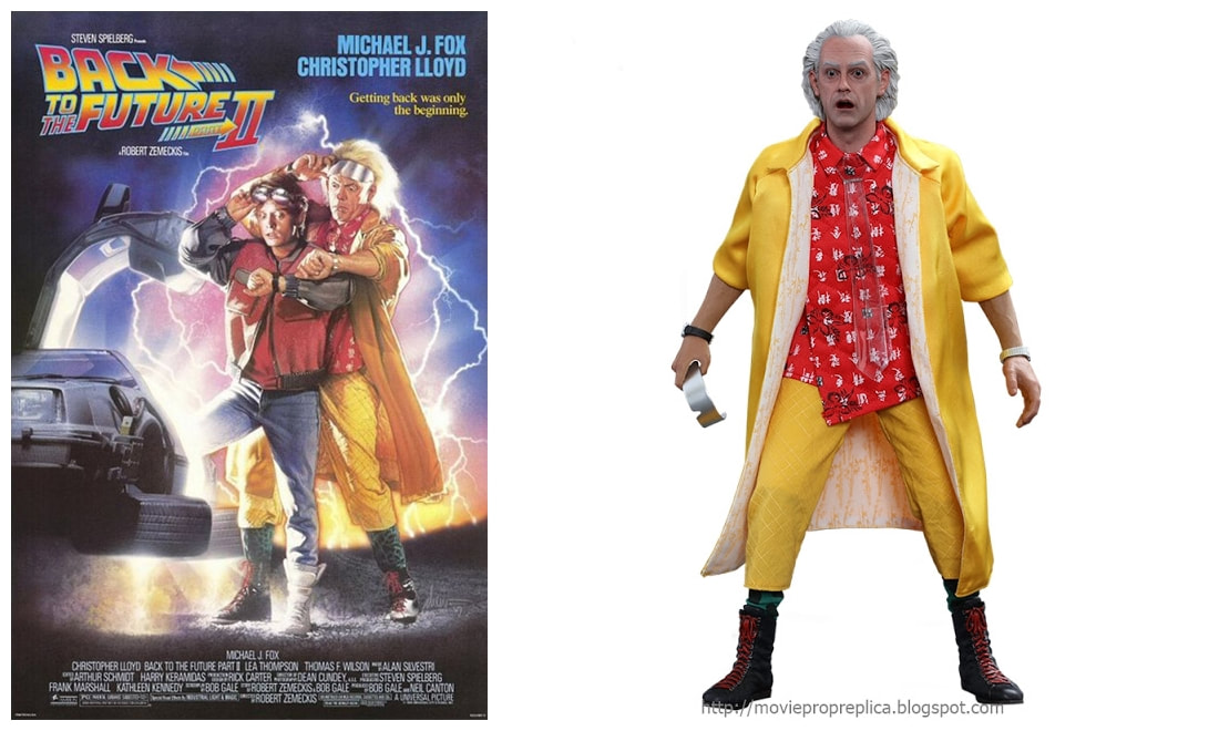 Christopher Lloyd as Dr. Emmett Brown / Doc: Back to The Future Part II Movie Collectible Figure