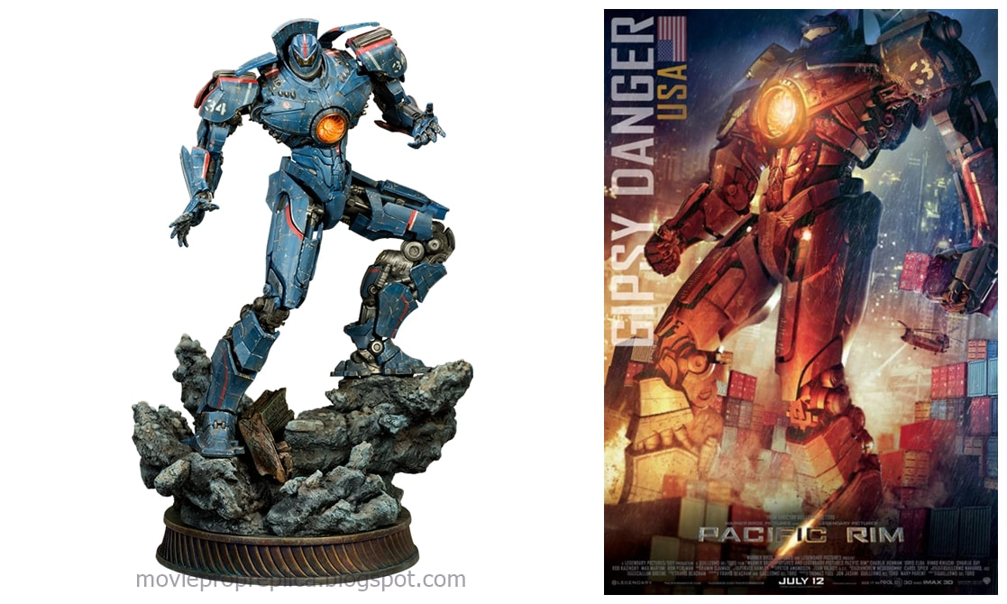 Gipsy Danger The Steel Titan is USA's mark 3 Jaeger. Pacific Rim Movie Statue